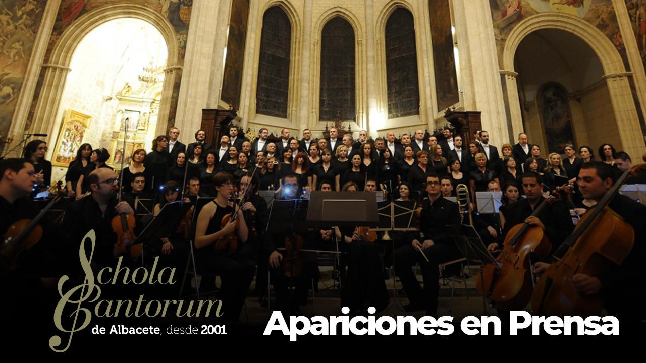 Schola Cantorum de Albacete - Apariciones en Prensa
